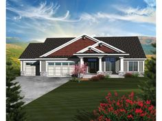 ePlans Craftsman House Plan – Grand Glass-Enclosed Stairway –2898 Square Feet and 5 Bedrooms from ePlans – House Plan Code HWEPL76376