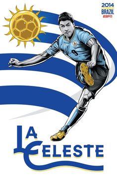 Uruguai poster copa do mundo 2014