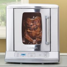 Slick design, easy to clean, easier to use with an affordable price. A must-have for healthy eating. Cuisinart get an 5 stars for their rotisserie.