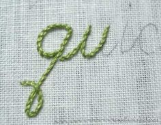 letter hand embroidery - how-to. Might have to try this on my next sewing…