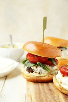 Caprese Burgers - The Candid Appetite