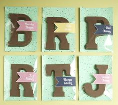 Cute Chocolate Monogram Favors - Project Wedding