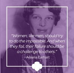 """In youth, Amelia Earhart was a fearless child whose taste for adventure would guide her through life. With the dawn of the aviation age, Earhart was inspired by the excitement of stunt fliers and air shows. She took up piloting and made her first solo flight in 1921. Earhart was asked to join a team that was flying across the Atlantic Ocean in 1928. She quickly accepted, exclaiming, """"How could I refuse such a shining adventure!"""" and became the first woman to fly across the Atlantic…"""