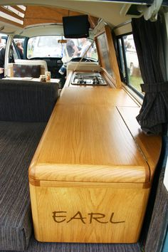 Rockliffe Bus | Customer Rides Gallery | All Things Timber Bus Camper, Volkswagen Bus, Campervan Interior, Campervan Ideas, Camper Van Kitchen, Land Rover Defender, Vw Syncro, Kombi Home, Van Dwelling