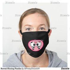 Kawaii Kissing Pandas Black Cotton Face Mask #CharcoalMaskPeel Diy Mask, Diy Face Mask, Face Masks, Pocket Pattern, Go Shopping, Household Items, Hair Ties, Halloween Face Makeup, Money