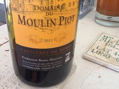 Domaine du Moulin Piot from the Costieres de Nimes, France.