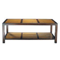 Table basse en bambou et teck massif L 120 cm Bamboo