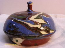 Desert Sands Pottery Covered Candy Dish