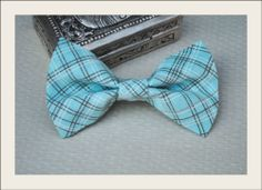 Toddler Baby Boys Vintage Plaid Boy Mint Blue Cotton Clip on Bow Tie 2T 3T 4T | eBay