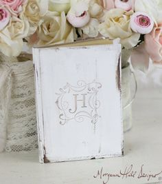 Bridal Shower Rustic Guest Book Shabby Chic Wedding Decor Personalized Custom (Item Number 140000)