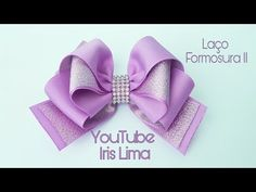 YouTube Diy Hair Bows, Diy Bow, Diy Ribbon, Ribbon Crafts, Ribbon Bows, Felt Headband, Hair Bow Tutorial, Boutique Hair Bows, How To Make Ribbon