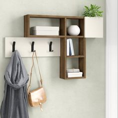 Best Garden Decorations Tips and Tricks You Need to Know - Modern Coat Rack Shelf, Coat Hanger, Coat Racks, Modern Coat Hooks, Coat Hooks Wall Mounted, Wall Hooks, Old Shutters, Repurposed Shutters, No Closet Solutions