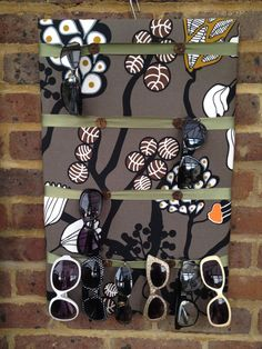 Sunglasses display storage by TexstyleSara on Etsy