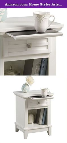 Amazon.com: Home Styles Arts and Crafts Night Stand. The arts and crafts night stand. Embellishes typical mission styling with a framed drawer showcasing raised wood, lattice moldings and slightly flared legs. Comes in a white finish over hardwood solids and engineered woods with square, brushed nickel hardware. This night stand's simplistic yet detailed design makes it an ideal piece for any bedroom setting. The top of the hidden pull-out tray features a scratch and stain resistant…