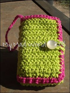 crochet cellphone case with pockets