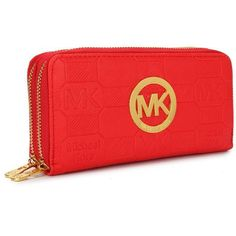 Michael Kors Cheap Logo Signature Large Red Wallets   my daughter bought this for me today!! I love it!!