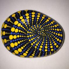 Hand Painted Mandala Stone Swirl Mandala Meditation by MafaStones