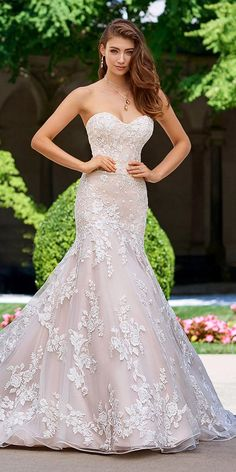 martin thornburg wedding dresses mermaid sweetheart floral embellishment