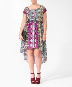 Abstract Geo High-Low Dress | FOREVER21 PLUS - 2000046584
