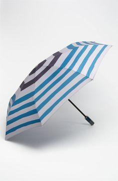 Burberry Trafalgar Stripe Folding Umbrella available at Nordstrom