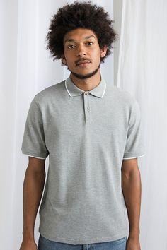 Tricou polo Tipped Mantis Polo Shirt, Tips, Mens Tops, Shirts, Fashion, Moda, Polos, Advice, La Mode