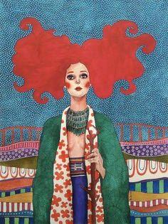 Pinzellades al món: Dones il·lustrades per Hülya Özdemir / Mujeres ilustradas / Women illustrated by Hülya Özdemir Arte Fashion, Woman Illustration, Watercolor Illustration, Illustrations And Posters, Art Plastique, Love Art, Female Art, Art Inspo, Illustrators