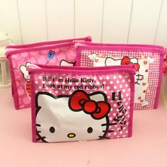7a0f03e7168d Girl s Hello Kitty Cosmetic Bags Cute Travel Makeup Organizer Case  Beautician Beauty Suitcase Accessories make up bags