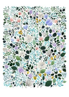 Image of Morning Frost Meadow -printhttp://annaemilia.bigcartel.com/