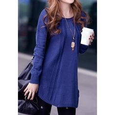 Ladies Loose Long Sleeve Knit Pullover Cardigan Tops SweaterSweaters & Cardigans | RoseGal.com