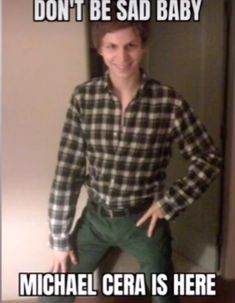 Michael Cera Meme, Micheal Cera, Stupid Funny Memes, Haha Funny, Reaction Pictures, Funny Pictures, Lol, Quality Memes, Cry For Help