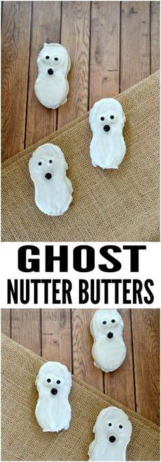 These Ghost Nutter Butters are a hauntingly perfect Halloween Treat! Click now!