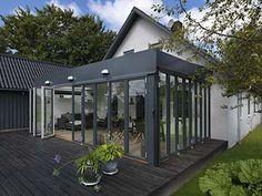 Foldedøre fra Outline - Bygma Outline, Facade, Outdoor Decor, Home Decor, Terrace, Facades, Interior Design, Home Interior Design, Home Decoration