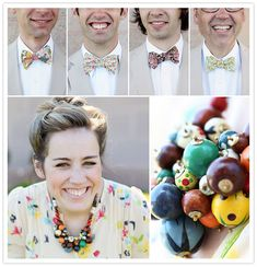 Remember this wedding? With the really big flowers as well? You should definitely look at it again. Think Ryan would go for these bow-ties? ;)