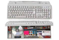 Computer Keyboard Storage - 15 Secret Hiding Places That Will Fool Even the Smartest Burglar Secret Hiding Places, Hiding Spots, Hidden Spaces, Hidden Rooms, Hidden Compartments, Secret Compartment, Secret Space, Secret Rooms, Secret Storage