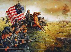 BATTLE OF BULL RUN, 1861.----La Pintura y la Guerra. Sursumkorda in memoriam