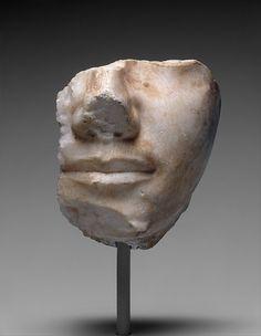 Fragmentary Face of King Khafre, Old Kingdom, Dynasty 4, Egypt circa 2520-2494 BC