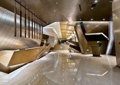 More of Kris Lin's (KLID) interior design work. He is based in Shanghai. Post 2 of No website found. Images from various sources. Interior Design Awards, Lobby Interior, Interior Architecture, Hotel Interiors, Office Interiors, Design Interiors, Commercial Design, Commercial Interiors, Plafond Design