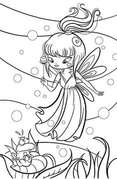 FAIRY COLORING PAGES: PRETTY FAIRY COLORING