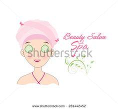 beauty salon and spa - stock vector