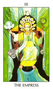 April 13 Tarot Card: The Empress! (Tarot of the Spirit deck) Take this opportunity to be generous, warm and nurturing