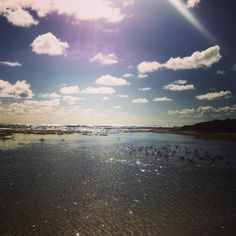The clouds look like yet we're painted on in the photo  #warrnambool #vic #australia #beach #beachbum #summer #sunrays #sun #sea #camping #greatoceanroad #eveningsky by majamagdic