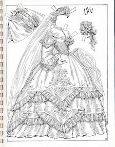 Miss Missy Paper Dolls: Charles Ventura brides