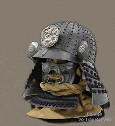Heaume pourvu de masque de protection 面 甲. Japon - Période Momoyama (1568-1600).