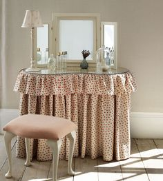 Dressing Table Skirts | ... Soft Furnishings » Covers for kidney or rectangular dressing tables