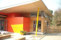 Shape Architecture London | Architects London, Contemporary Architects, Residential Architect    The Anthony Roper Primary School is an example of eco-friendly architecture in action, and this building was designed in the shape of a dragon fly.