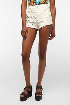 Edgy, yet so versatile and adorable.    BDG High-Rise Studded Cheeky Short