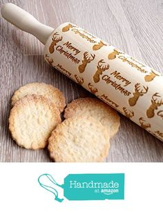 Australian Shepherd Small Embossing Rolling Pin with Dog Wooden Cookie Roller UK