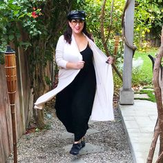 Loving this cozy & versatile Karen Kane Duster for Fall