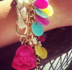 Pink buda Heart Charm, Bracelets, Pink, Ideas, Jewelry, Products, Bangle Bracelets, Jewlery, Jewerly