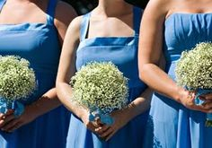 Bouquet Bridal: Baby's Breath Bouquet for Bridesmaids